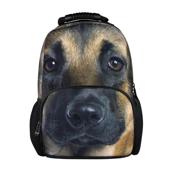3D Animal Dog Printed School Bags fashionable backpack for travling and hiking