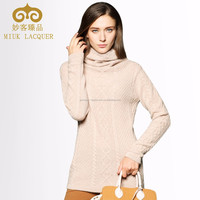 2015 NEW COLLECTION KNITTED WOMEN SWEATER PULLOVER TURTLE NECK