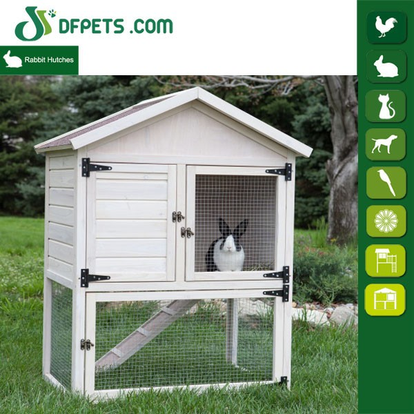 White painting wooden rabbit hutch