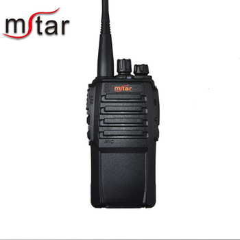 Mstar m-9 Long Range Two-Way Radios with Earpiece (1 Pack) UHF 400-470Mhz Walkie Talkies Li-ion Battery and Charger Included