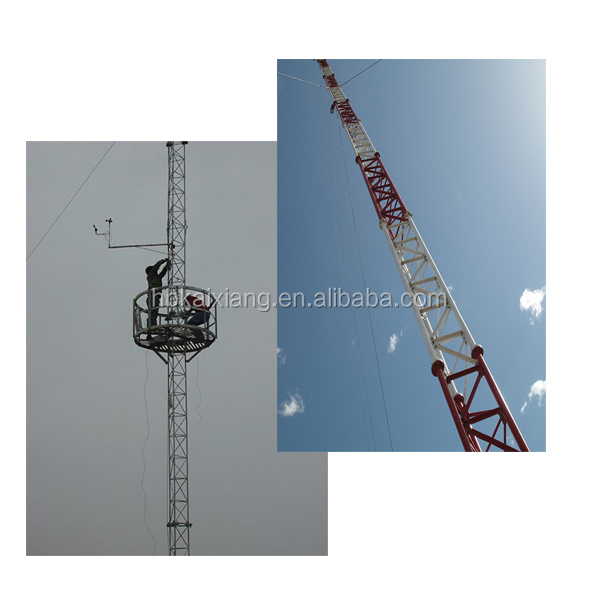 aibaba the latest guyed mast 30m-150m tower