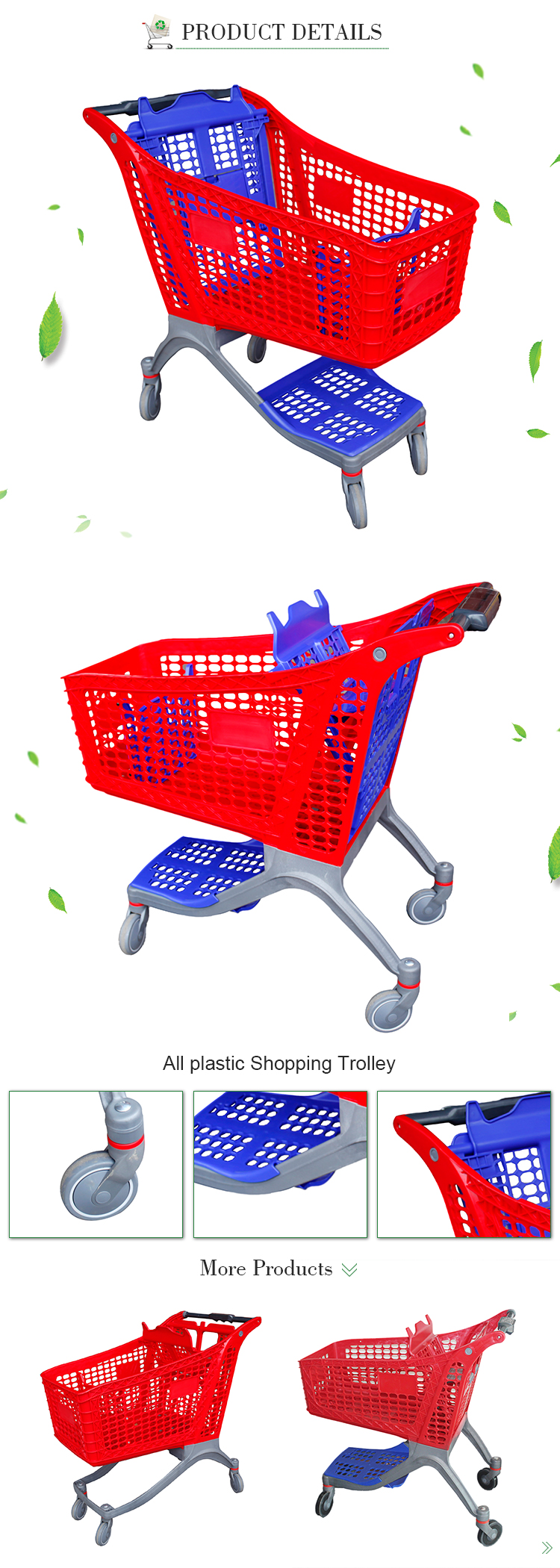Shopping Trolley Carts Custom Retail Trolley Shopping Trolley with Baskets