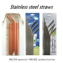 Xinhao supply custom made brand name stainless steel straw
