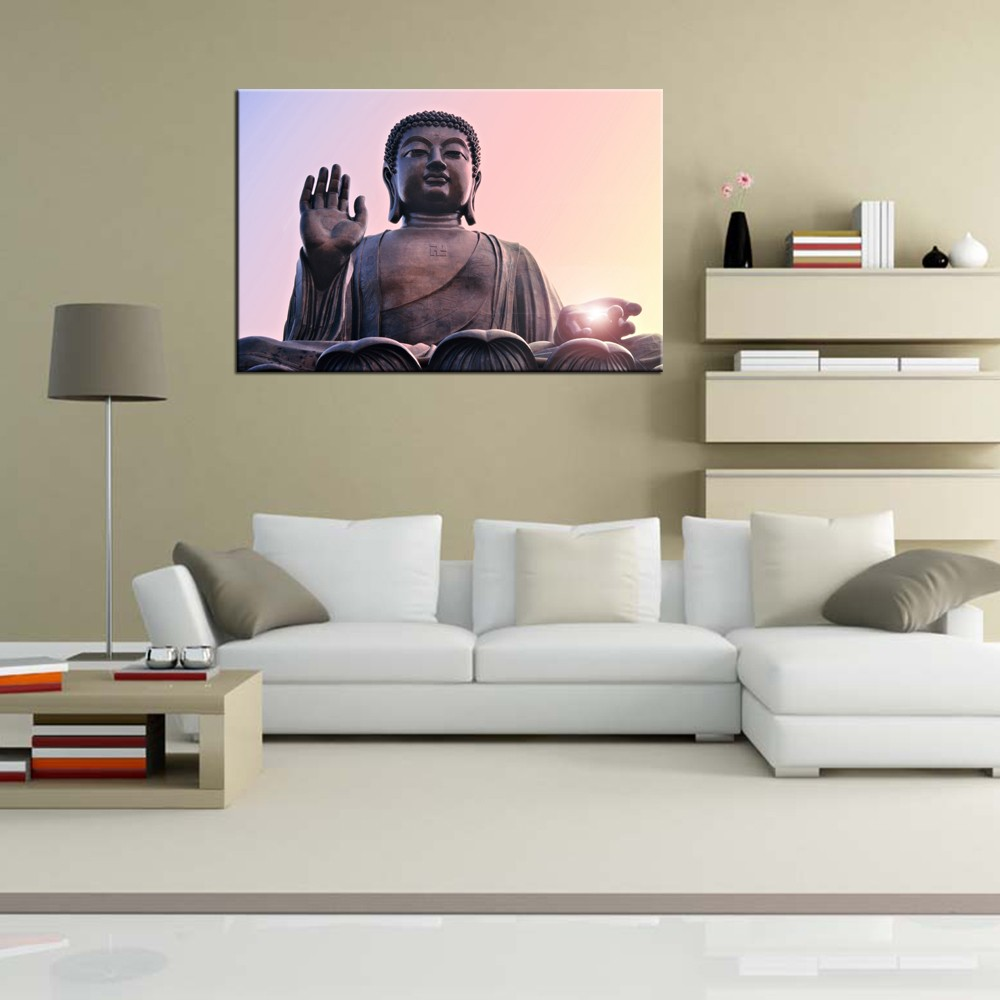 Modern Art Buddha Canvas Printing /Religion Lotus Flower Canvas Prints/Buddhist Paintings Art on Canvas