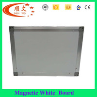 Promotion classroom writing white board stand size white/green melamine particle board with aluminium frame