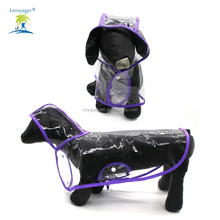 Lovoyager wholesale pet supplies PVC dog rain jacket with hood for large dog