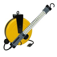 Case of 4 Professional 34 Smd Led 500 Lumen LED Retractable Cord Auto Repair Shop Work Light Reel
