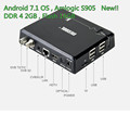 DDR4 Amlogic Quad core S905D Hybrid android tv receiver DVB T2&S2 Combo set top box