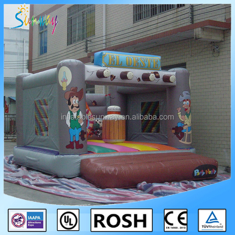 SUNWAY EN14960 certified commercial inflatable bouncy castle/inflatable jumping castle/inflatable bounce castle