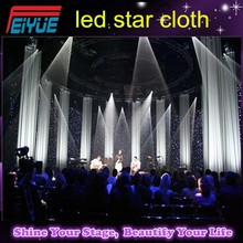 Factory price good effect RGB 3 IN 1 party backdrop decorate wedding backdrop led star cloth with controller