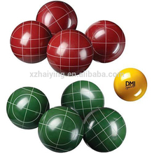 Custom Bocce Ball Set with lines for backyard games high quality resin bowling ball set