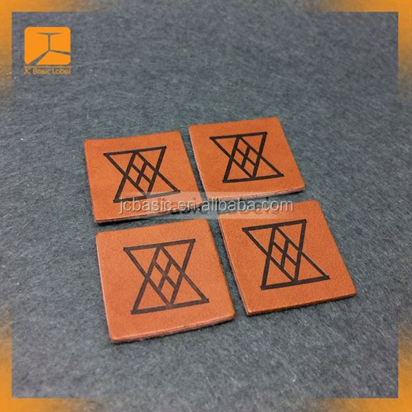 China Supplier Wholesale Blank Metal Band Jeans PU Leather Patches