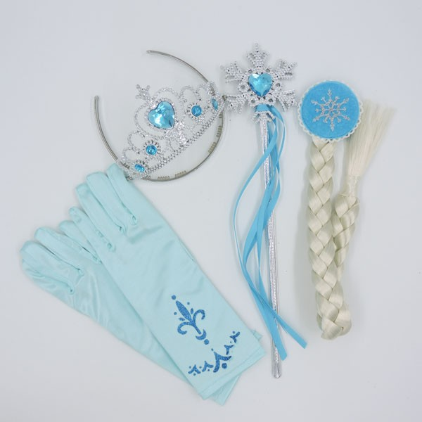 Princess Anna Elsa Crown Set Tiara Girls Hair Accessories For Cosplay And Kids Party