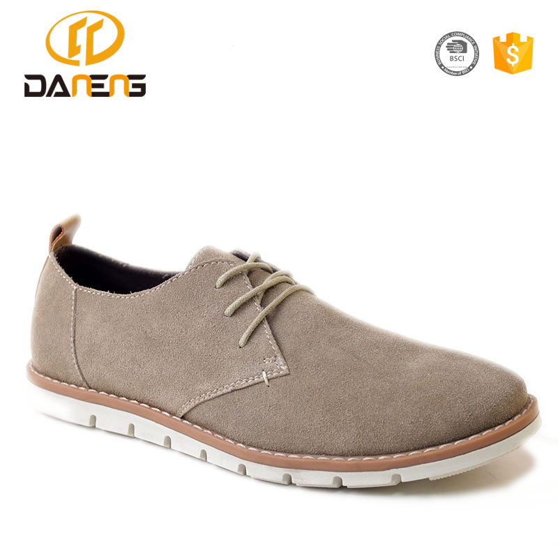 Daneng OEM Factory Men Causal Shoes, Suede Leather Casual Footwear For Men, 2017 Best Price Men Shoes