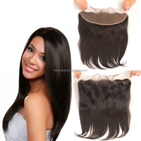 Free Shipping Silky Straight Brazilian Hair Closure 100% Human Lace Frontal Hair Pieces