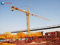 6tons QTZ63(TC5613) used tower crane mono mast section yellow in Guangdong