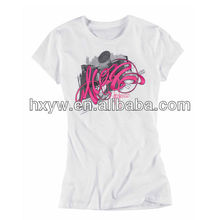 100%cotton o neck t shirt for women