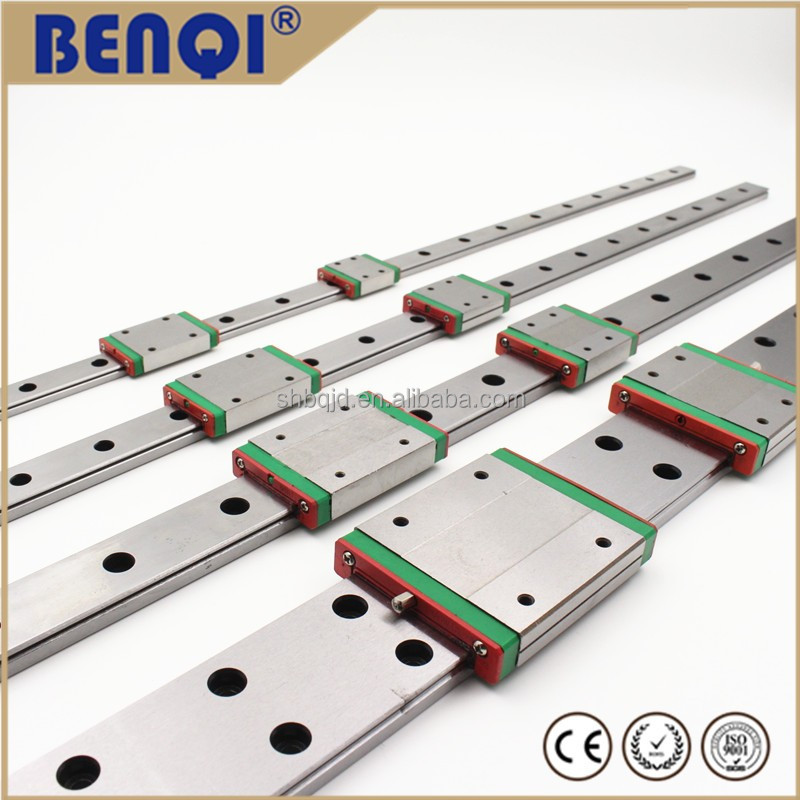 cnc machine linear guide plastic guide rails metal silver color