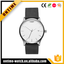 2017 Geneva quartz stainless steel watches men custom logo wrist watch uhren
