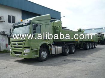 4-Axle Semi-trailer Cargo Transportation
