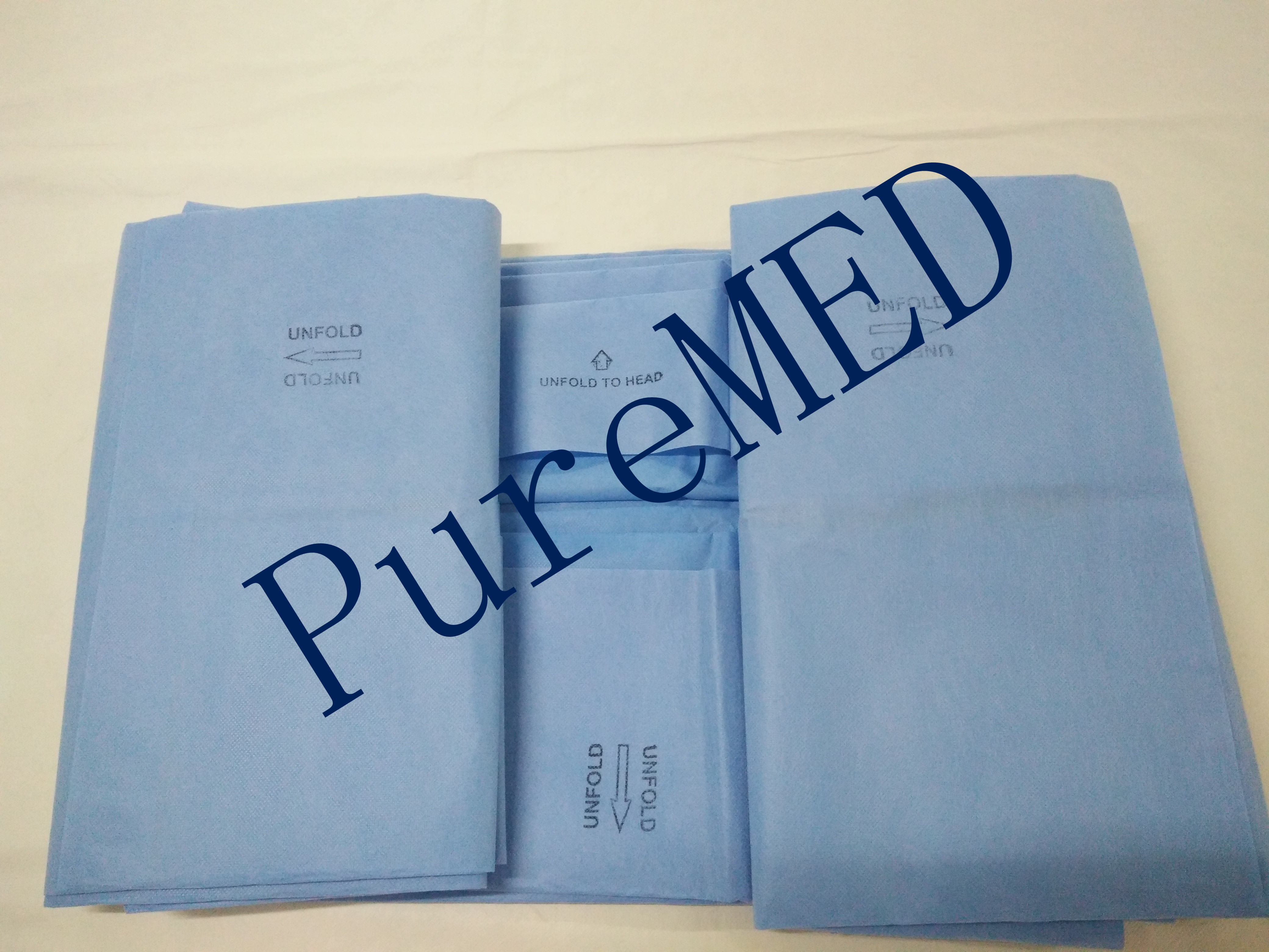 China manufacturer customized blue disposable surgical extremity drape set sterile