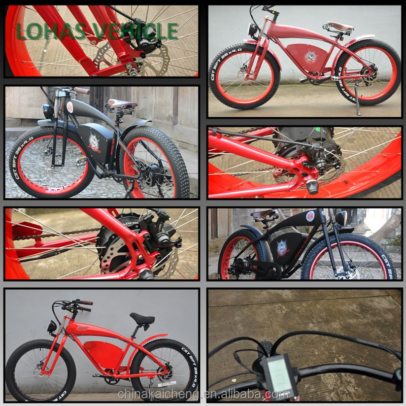26 inch fat tire electric bike with EN15194 and CE