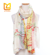 Factory wholesale japanese satin silk scarf and shawl 2016