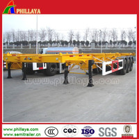 20-45ft Chassis for Trailer /Skeleton Container Trailer with 30-70Tons Capacity