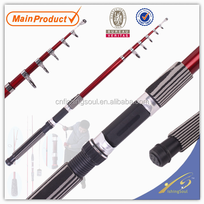 TSR009 6', chinese fishing tackle china fishing gear tele spin fibre glass fishing rod tele spin pole