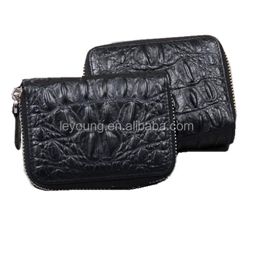 Leather Deisgner Credit Card Holder Wallet with Zipper