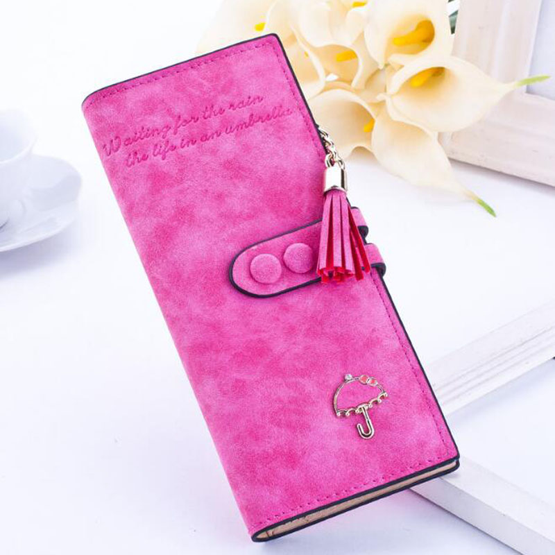Hot Sale Women Fashion Purse Colorful Soft PU Leather Lady Wallet