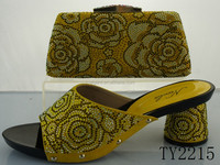 TY2215 fashion design african shoes and bag set,evening bag and shoes,wedding shoes and matching bag