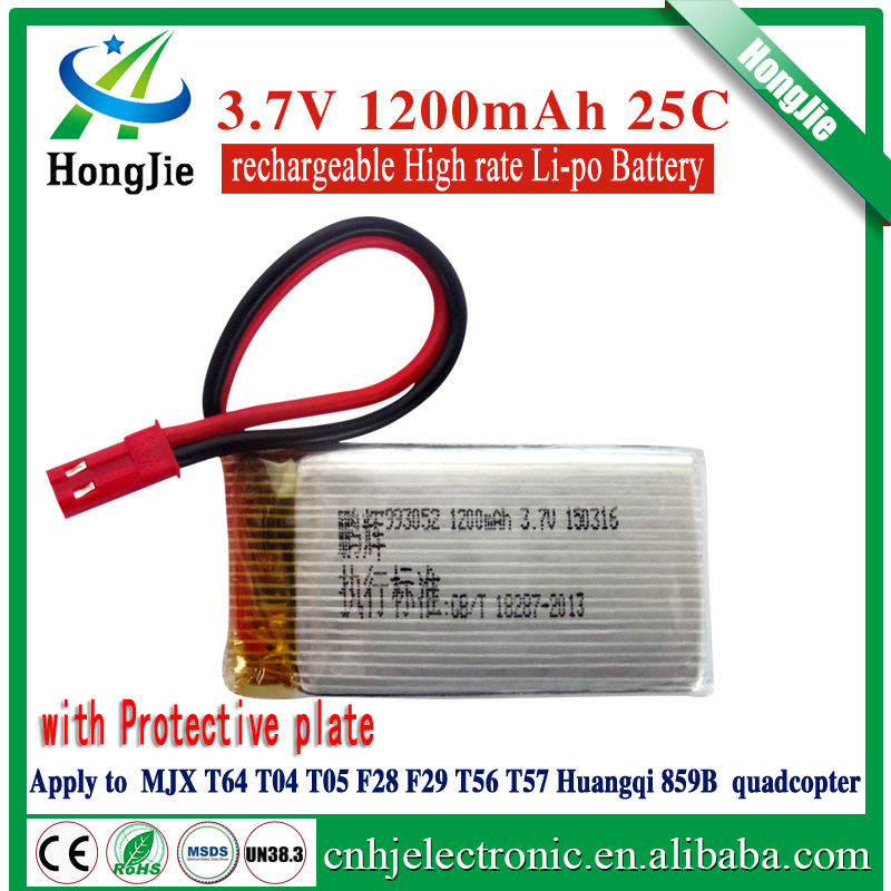 li-ion polymer battery 3.7V 1200mAh 993052 25C t05 battery rechargeable MJX T05