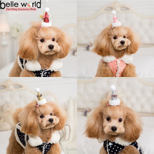 Cute Pet Hair Accessory Crown Fabric Pet Hair Clips for Dog