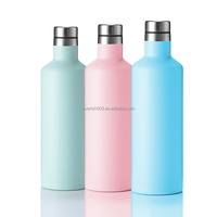 2017 Hot New Private Label Double Wall Insulated Wine Bottle