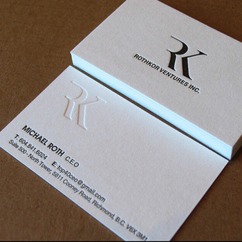China luxury Customized Embossed Business card printing
