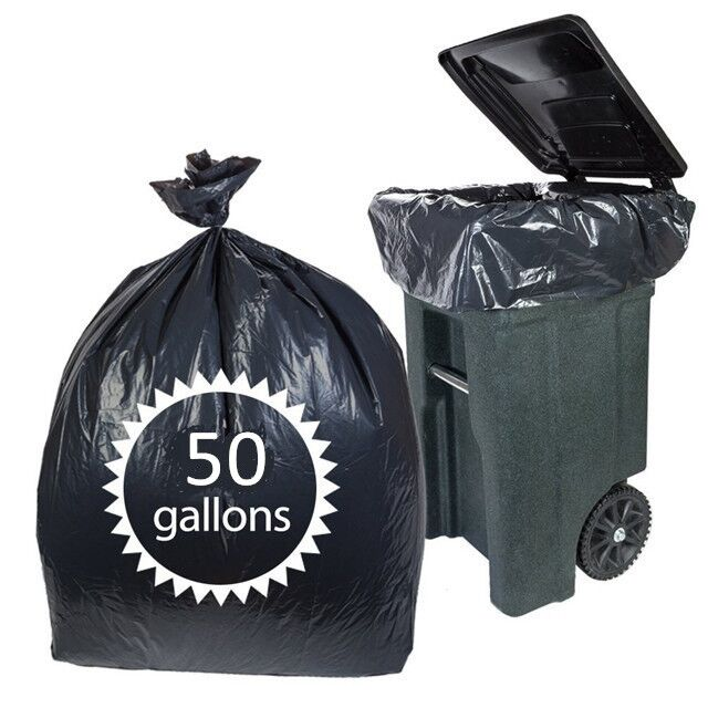 50 gallon black heavy duty compactor trash plastic bag,trash compactor bag