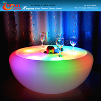 home bar table/ illuminated furniture table/ portable lighted table