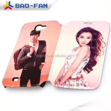 Leather flip blank sublimation cover for Samsung Note2