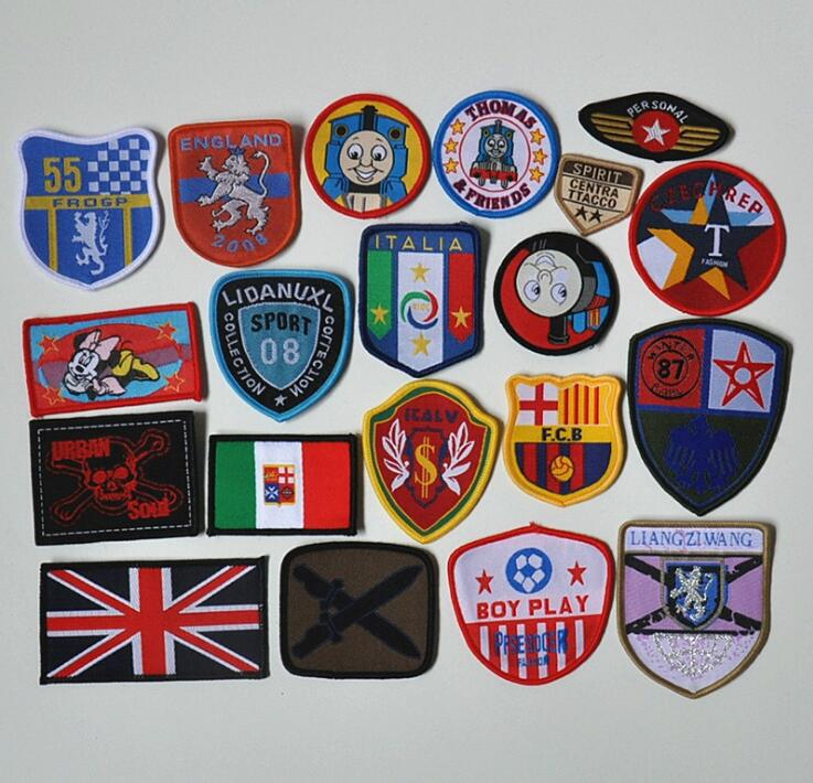 garment accessory custom overlock paper backing various woven patch