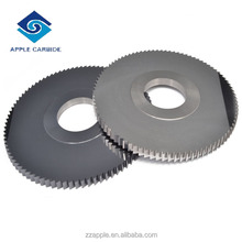 Manufacture solid finished tungsten metal carbide slitting saw ; precision carbide slitting saw ;