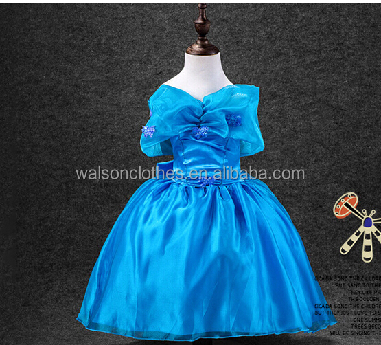 Kids Cinderella Queen Princess Cosplay Costume Girls Party Fancy Christmas Dress