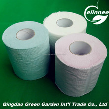 recycled wood pulp embossed high quality hand tissue paper/toilet tissue paper towel