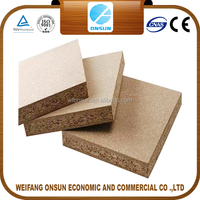 hot sale pre laminated hollow core particle board/particle board sizes