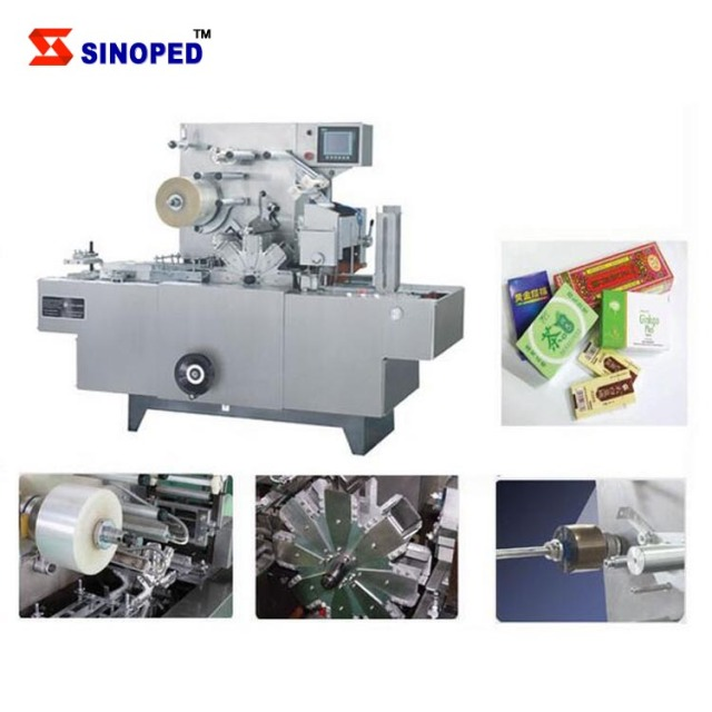 Cellophone packing machine 3D film packing machine Paper box
