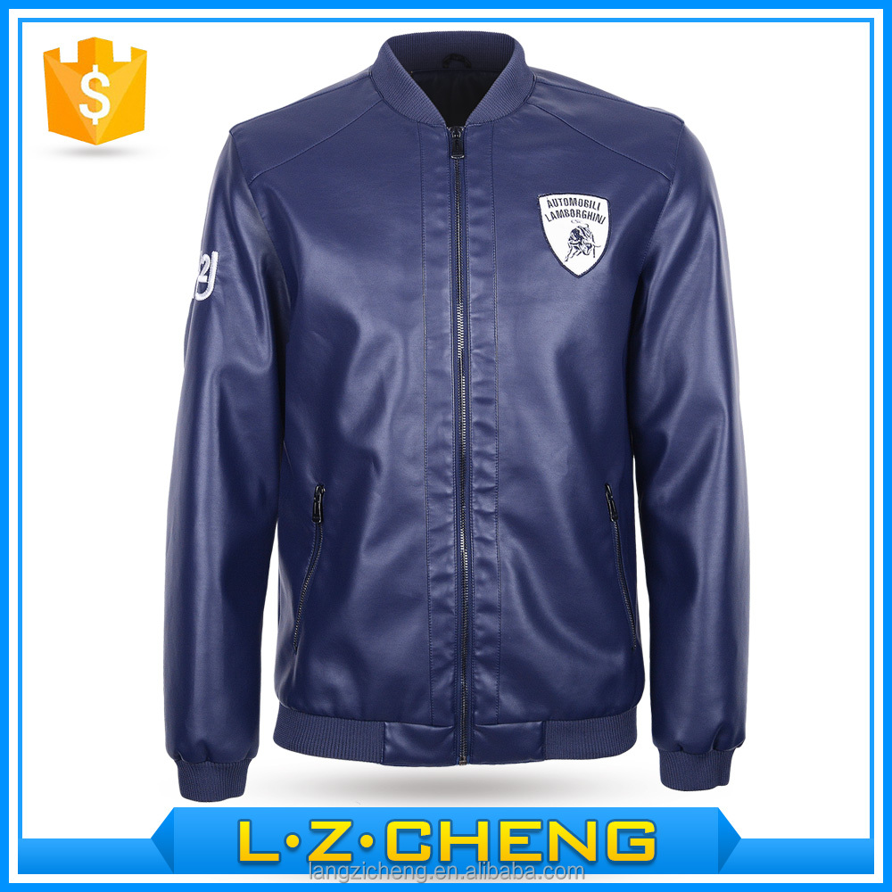 New Fashion Hot Sale spring and autumn PU Leather Jacket Mens bomber coat clothing