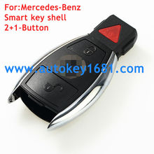 Smart Car Key Remote Keyless Blank Shell Case Cover 2+1button with panic For Mercedes Benz IYZDC12K