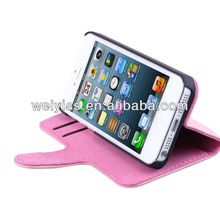 Pink Leather Blank Cell Phone Case for iphone 5 and 5G