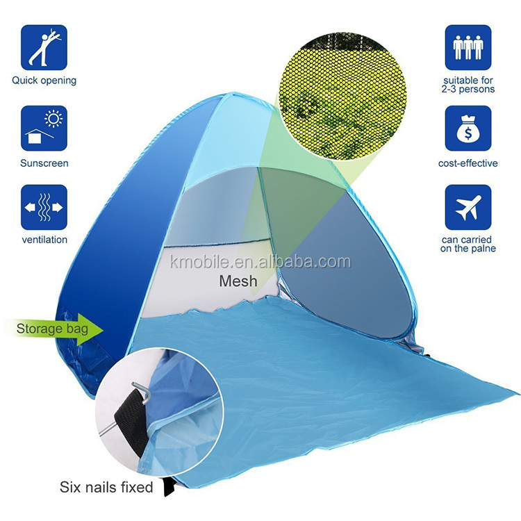 Outdoor Camping Tent Single Layer Family Travel Hiking Automatic Pop-up Stretch Tent