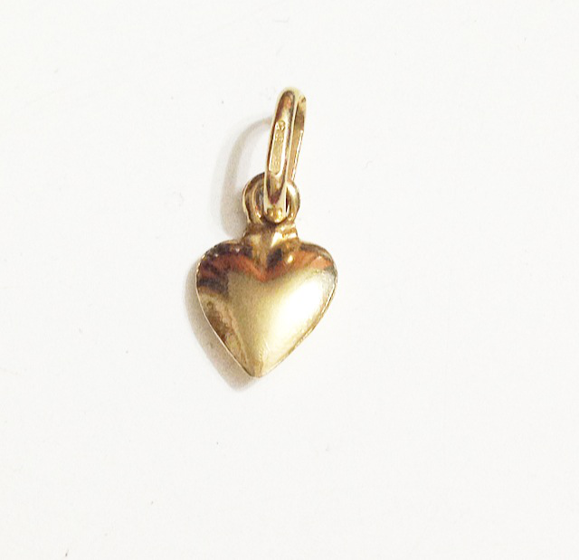18 k gold jewelry HEART charm